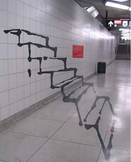 cool graffiti stairs
