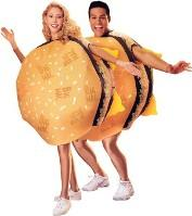 prove that you are what you eat with this monstrous double cheeseburger slimming design hides all your imperfections behind its two all foam patties
