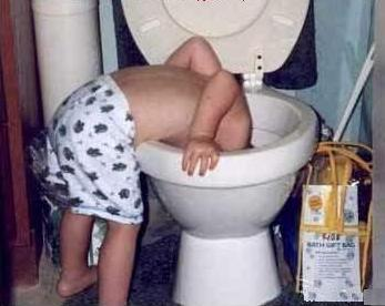 kid in toilet
