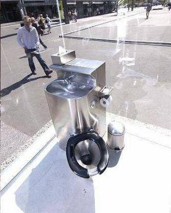 clear toilet