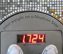 weight on neutron star
