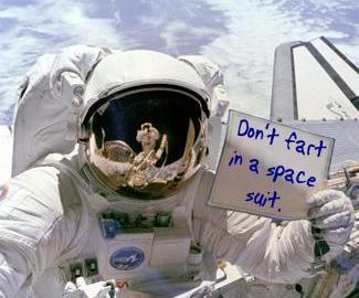 Fart in space suit