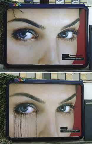 Max Factor Crying Billboard