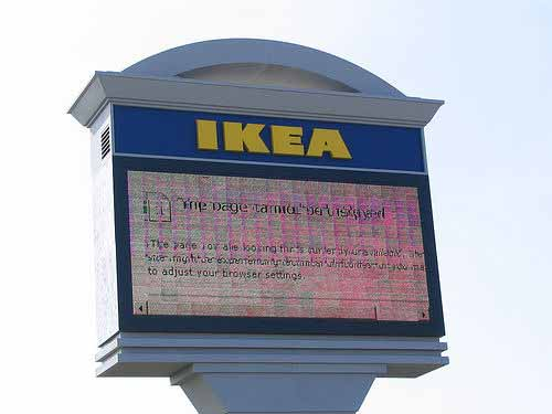 Ikea page cannot be displayed
