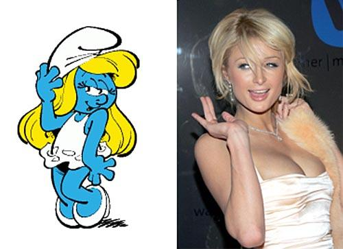 Smurfette vs. Paris Hilton