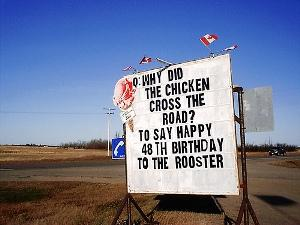 Worst chicken cross the road joke ever