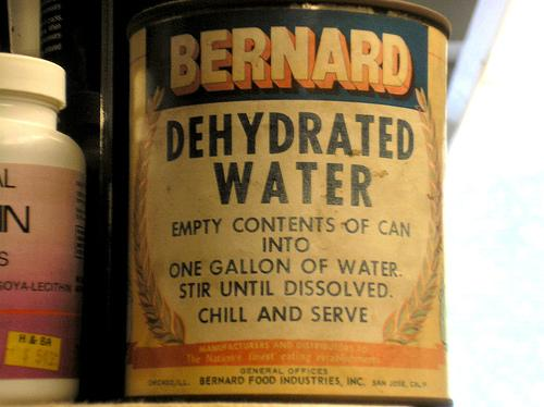 Dehydrated Water