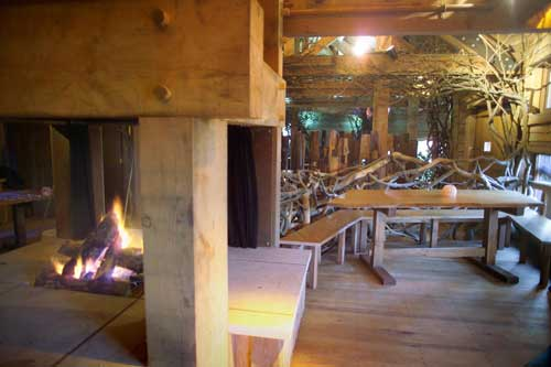 Alnwick Treehouse Fireplace
