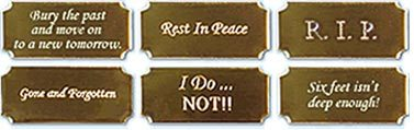 Wedding Ring Coffin Plaques