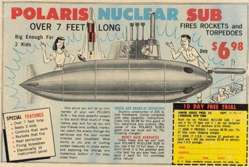 Polaris Nuclear Sub Toy