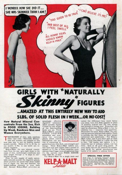 Kelp O Malt Advertisement - How to Gain Weight
