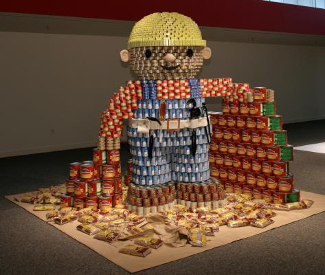 Bob the builder from cans