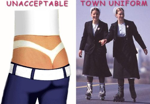 Clothing options for town that said no to crack