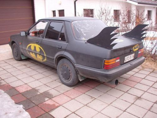 Batmobile babe magnet