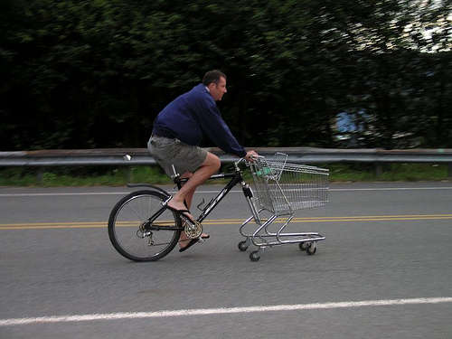 Most people contend that Americans don't ride bikes because we're fat, lazy,